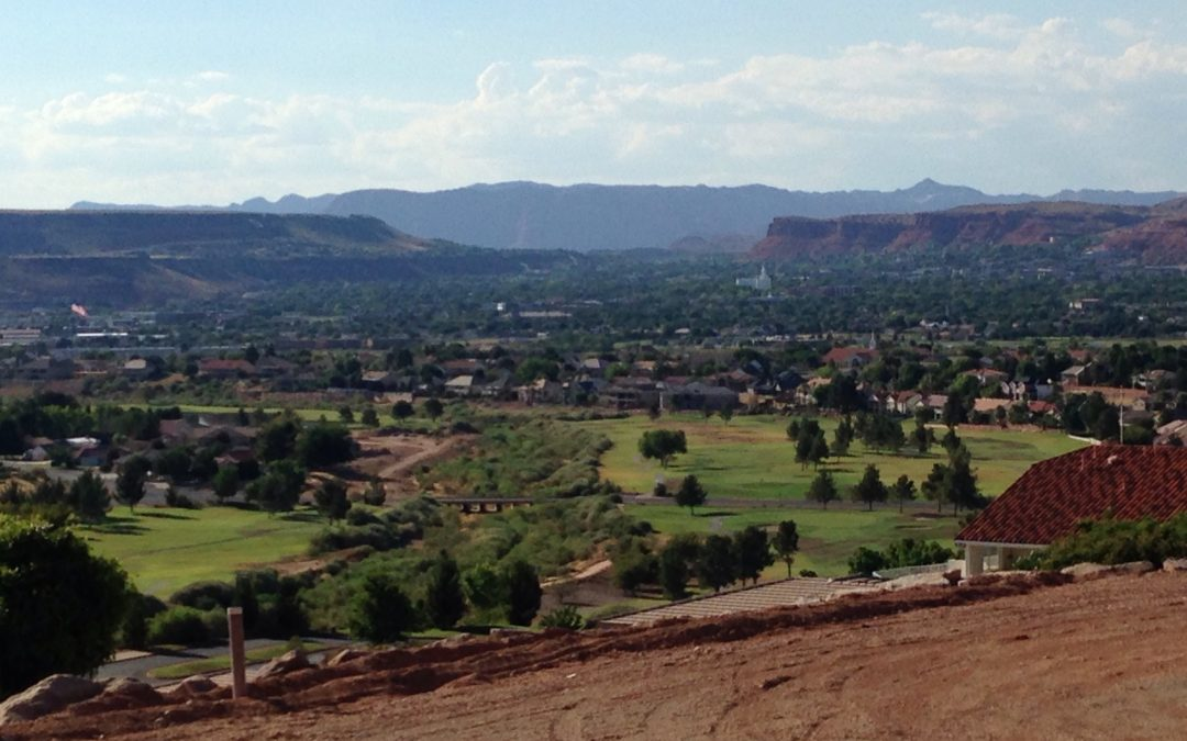 St George Utah Temple and Golf Course