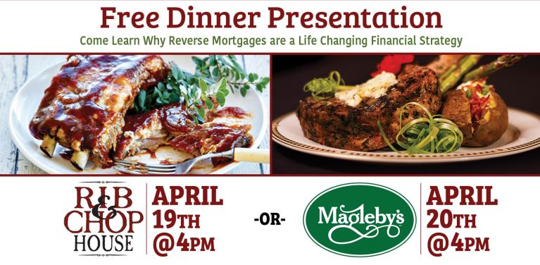 Reverse Mortgage Seminar and Free Dinner – Richfield & St George Utah